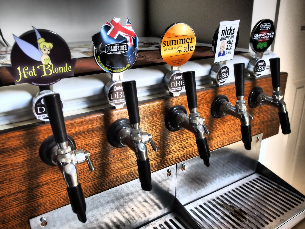 The first Grainfather beers on tap